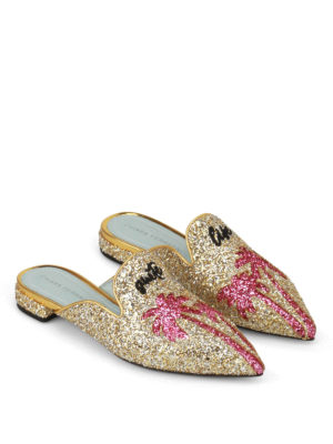 Chiara Ferragni: Loafers & Slippers online - Suite Life glitter pointy slippers