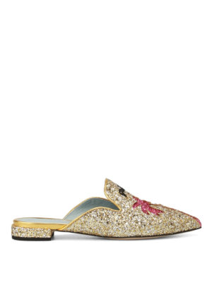 Chiara Ferragni: Loafers & Slippers - Suite Life glitter pointy slippers
