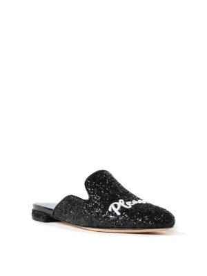 Chiara Ferragni: mules shoes online - Chiara Suite glittered mules