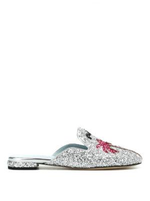 Chiara Ferragni: mules shoes - Suite Life silver glitter mules