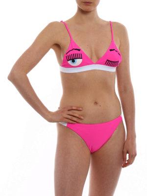 CHIARA FERRAGNI: bikini online - Bikini fucsia motivo Flirting