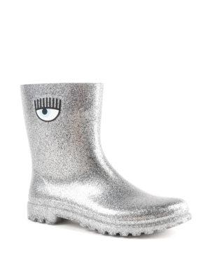 CHIARA FERRAGNI: stivali online - Stivaletti da pioggia Flirting argentati