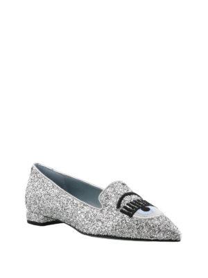 CHIARA FERRAGNI: ballerine online - Ballerine Flirting a punta in glitter argento