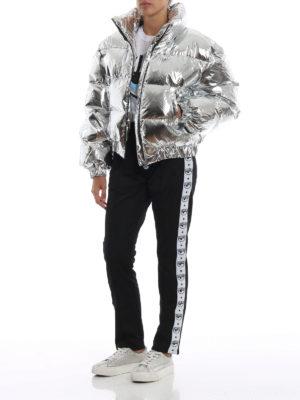 CHIARA FERRAGNI: giacche imbottite online - Piumino Logomania corto color argento lucido