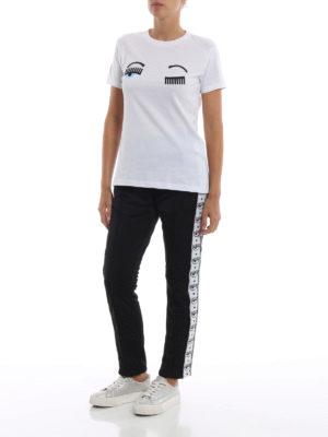 CHIARA FERRAGNI: t-shirt online - T-shirt Flirting bianca in cotone