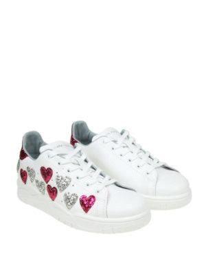 CHIARA FERRAGNI: sneakers online - Sneaker Roger in pelle con cuori glitter