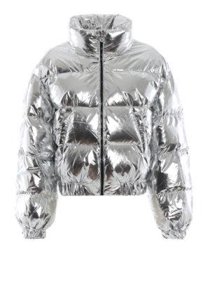 CHIARA FERRAGNI: giacche imbottite - Piumino Logomania corto color argento lucido