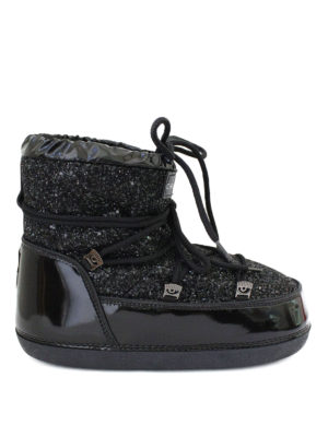 Chiara Ferragni: snow boots - Glitter low top Moon Boots