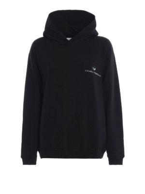 CHIARA FERRAGNI: Felpe e maglie - Felpa con cappuccio nera Logomania