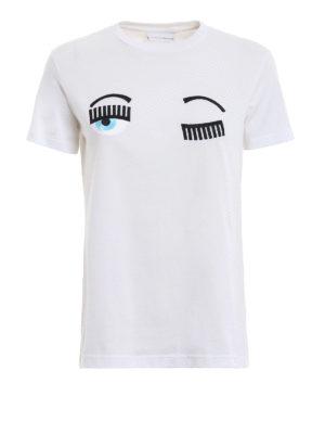 CHIARA FERRAGNI: t-shirt - T-shirt Flirting bianca in cotone