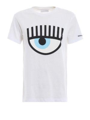 CHIARA FERRAGNI: t-shirt - T-shirt Logomania bianca a maniche corte