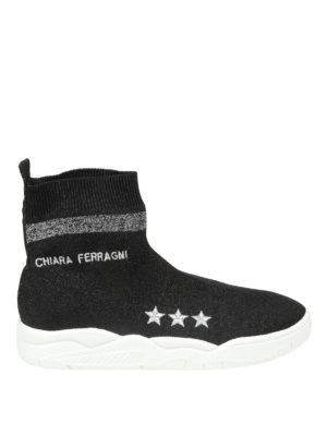 CHIARA FERRAGNI: sneakers - Sneaker Active in tessuto effetto lurex