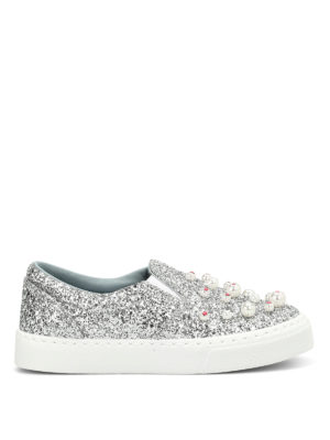 Chiara Ferragni: trainers - Candies glittered slip on sneakers