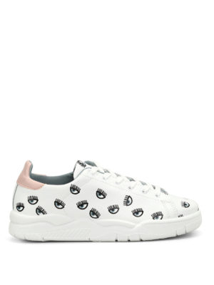 Chiara Ferragni: trainers - Eyes print leather sneakers