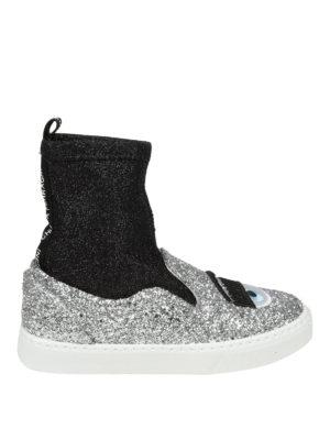 CHIARA FERRAGNI: sneakers - Sneaker Flirting in tessuto glitterato