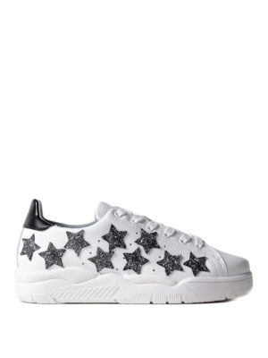 Chiara Ferragni: trainers - Glitter stars leather sneakers