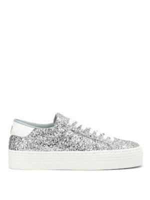 Chiara Ferragni: trainers - Glittered wedge sneakers