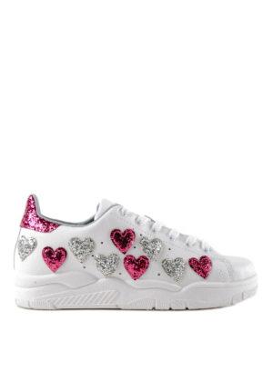 CHIARA FERRAGNI: sneakers - Sneaker Roger bianche con cuori