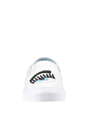 Chiara Ferragni: trainers online - Beads detail leather slip-ons