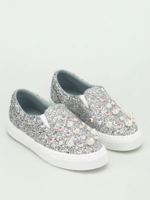 Chiara Ferragni: trainers online - Candies glittered slip on sneakers