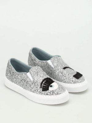 Chiara Ferragni: trainers online - Flirting glittered slip-on sneakers