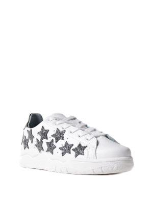 Chiara Ferragni: trainers online - Glitter stars leather sneakers