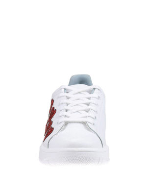 Chiara Ferragni: trainers online - Roger glittered hearts sneakers