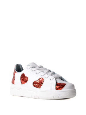 Chiara Ferragni: trainers online - Roger sneakers with glitter hearts