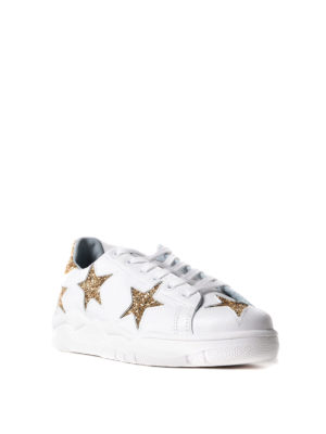Chiara Ferragni: trainers online - Roger sneakers with golden stars