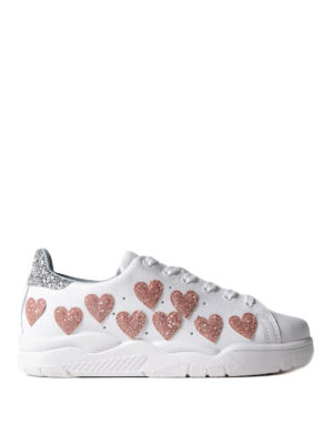 Chiara Ferragni: trainers - Roger glitter hearts sneakers