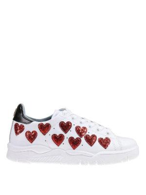 Chiara Ferragni: trainers - Roger glittered hearts sneakers