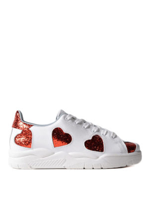 Chiara Ferragni: trainers - Roger sneakers with glitter hearts
