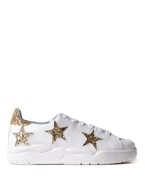 Chiara Ferragni: trainers - Roger sneakers with golden stars