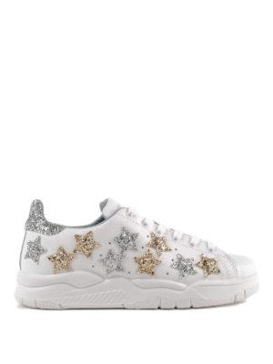 CHIARA FERRAGNI: sneakers - Sneaker Roger bianche con stelle