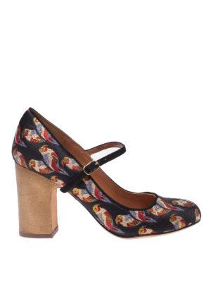 Chie Mihara: scarpe décolleté - Mary Jane Is Fugaz con motivo pappagalli