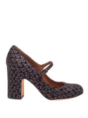 Chie Mihara: scarpe décolleté - Mary Jane Is Gia con motivo piumette