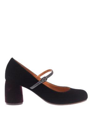 Chie Mihara: scarpe décolleté - Mary Jane Mossa in velluto