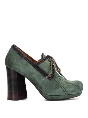 Chie Mihara: lace-ups shoes - Laila suede platform lace-ups