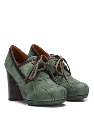 Chie Mihara: lace-ups shoes online - Laila suede platform lace-ups