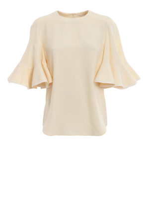 CHLOE': bluse - Blusa in cady con maniche a ruota