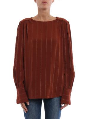 Chloe': blouses online - Lurex striped jacquard blouse