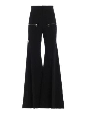 CHLOE': pantaloni casual - Pantaloni svasati in lana stretch
