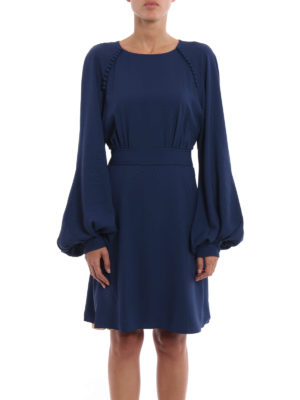 Chloe': cocktail dresses online - Puff sleeved flared dress