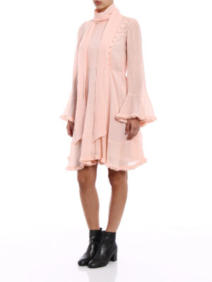 Chloe': cocktail dresses online - Ruched crepon pleated dress