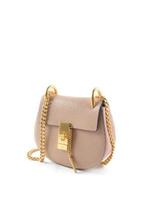 Chloe': cross body bags online - Drew leather mini cross body bag