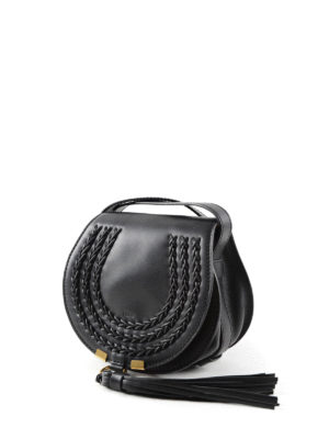 Chloe': cross body bags online - Marcie leather small saddle bag