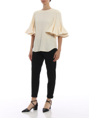 CHLOE': bluse online - Blusa in cady con maniche a ruota