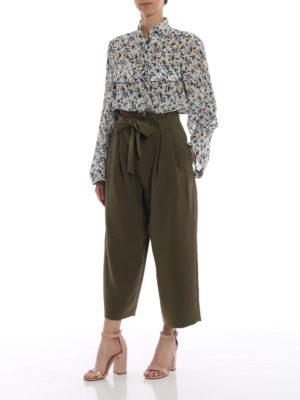 CHLOE': camicie online - Camicia in crepe con stampa fiori