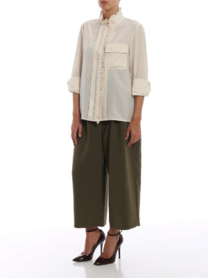 CHLOE': camicie online - Camicia in crepe de chine color avorio