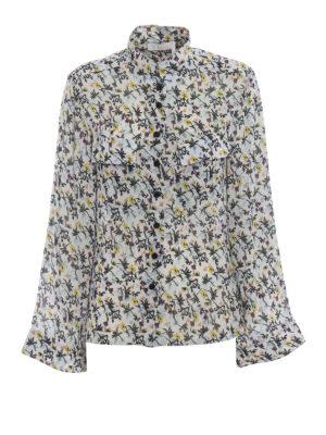 CHLOE': camicie - Camicia in crepe con stampa fiori